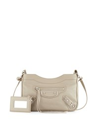 Balenciaga Metallic Edge Nickel Aj Crossbody Bag Taupe Brown