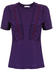 Spacenk Nk Ruffled Blouse Pink And Purple