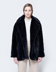 Tilda Faux Fur Coat Navy