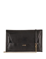 Lodis Vanessa Variety Betsy Convertible Leather Clutch Black