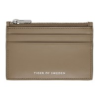 Tiger Of Sweden Tan Hampus 2 Zip Card Holder