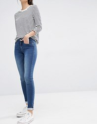 Only Royal Reg Rise Skinny Jeans Medium Blue