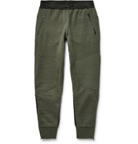 Under Armour Sportswear Pivot Lim Fit Tapered Hell Panelled Jerey Weatpant Army Green