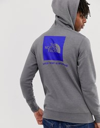 The North Face Red Box Hoodie In Gray Gray