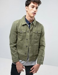Brave Soul Denim Jacket Green