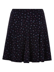 Louche Tata Fan Print Skirt Navy