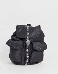 Adidas Originals Backpack With Mini Pockets And Trefoil Taping Black