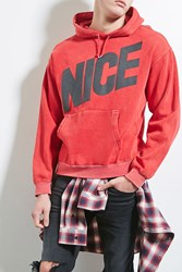 Forever 21 Franchise Athletic Nice Hoodie Red