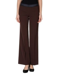 Normaluisa Casual Pants Dark Brown