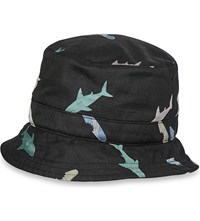 Thom Browne Shark And Surfboard Silk Jacquard Hat Black