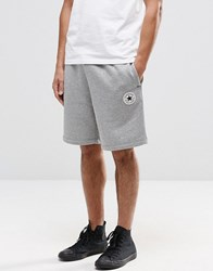 Converse Chuck Patch Jersey Shorts In Grey 10002136 A01 Grey