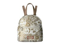Sakroots Mini Crossbody Backpack Gold Songbird Backpack Bags Beige