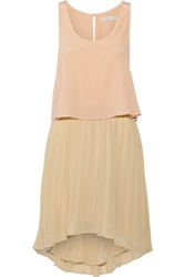 Chelsea Flower Francoise Silk Crepe And Chiffon Mini Dress Pink