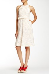 Orla Kiely Ditsy Dot Dress Beige