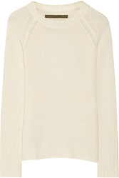 Enza Costa Open Knit Wool And Cashmere Blend Sweater