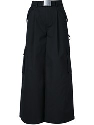Rosie Assoulin Belted Palazzo Pants Black
