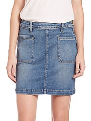 Peserico Le Patch Pocket Jean Skirt Greenway