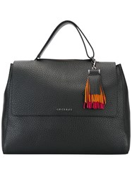 Orciani Fringed Detail Tote Black