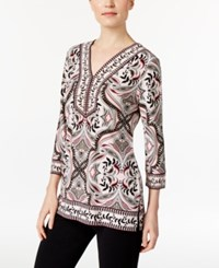 Jm Collection Printed Studded Tunic Only At Macy's Storybook Scroll