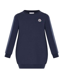 Moncler Terry Long Sleeve Sweater Dress Size 4 6 Navy