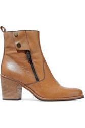 Belstaff Dursley Leather Ankle Boots Tan