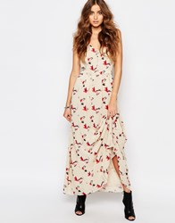 Y.A.S Tall Button Up Floral Print Full Maxi Dress Multi