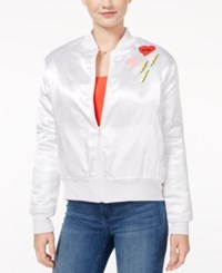 Hybrid Juniors' Cool Patch Bomber Jacket White