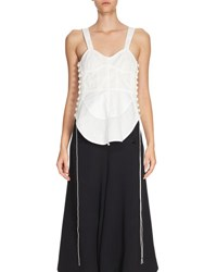 Chloe Sleeveless Cotton Corset Top White