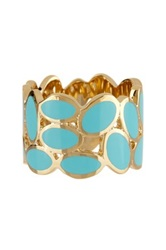 Ariella Collection Oval Enamel Band Blue