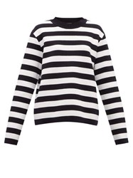Connolly Striped Cotton Sweater Navy White
