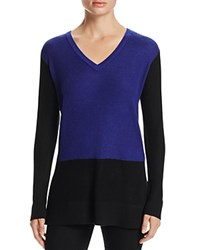 Vince Camuto Waffle Knit Color Block Sweater Anchor Blue