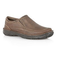 Lotus Slip On Casual Loafers Brown