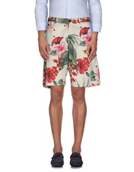 Franklin And Marshall Trousers Bermuda Shorts Men Ivory