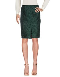 Alaia Knee Length Skirts Green