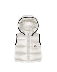 Moncler Brice Quilted Nylon Vest With Hood Cream 3M 3T Ivory