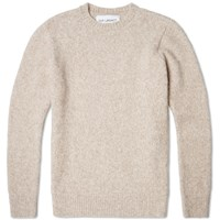 Our Legacy Splash Regular Round Neck Knit Beige Alpaca