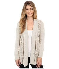 Royal Robbins Cascada Pointelle Cardi Light Khaki Women's Sweater