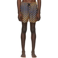 Solid And Striped Navy Orange Ombre Dot The Classic Swim Shorts