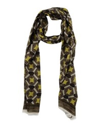 Paolo Pecora Oblong Scarves Acid Green