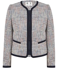 Austin Reed Multi Colour Tweed Jacket Blue