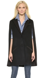 Haute Hippie The Coven Trench Cape Black