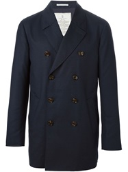 Brunello Cucinelli Double Breasted Coat Blue