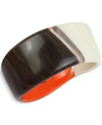 Robert Lee Morris Soho Tri Tone Resin Sculptural Bangle Bracelet Multi