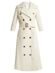 Khaite Charlotte Cotton Trench Coat Cream