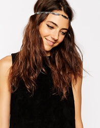 Asos Feather Chain Headband Burnishedsilver