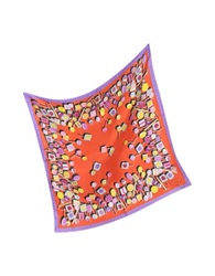 Julia Cocco' Lollipop Twill Silk Square Scarf Orange