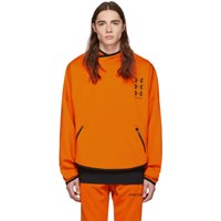 Palm Angels Orange Under Armour Edition Loose Hoodie