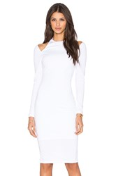 Rise Royals Only Cut Out Midi Dress White