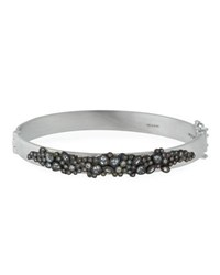 Armenta New World Diamond And White Sapphire Cluster Bracelet Silver