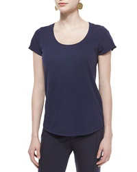 Eileen Fisher Slubby Short Sleeve Scoop Neck Tee Petite